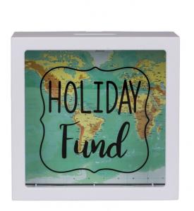 Pusculita Holiday Fund cu harta lumii0