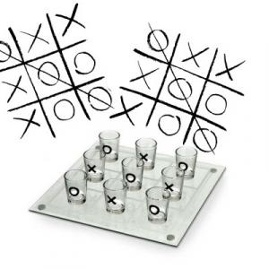 Joc de baut - X si 0 cu pahare3