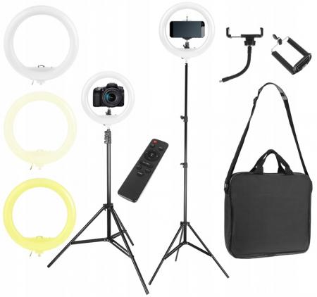 Lampa circulara portabila, cu putere de 30W pentru foto, make-up, cosmetica1