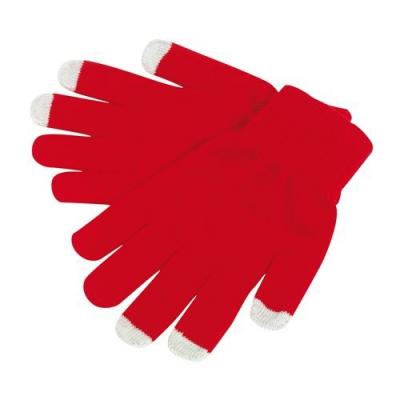 Manusi cu touchscreen rosii1