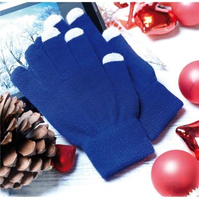 Manusi touchscreen albastre1