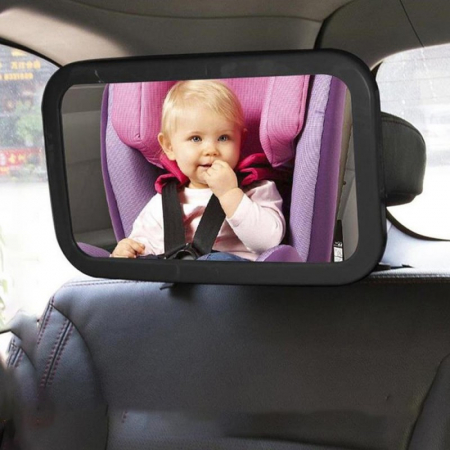 Oglinda auto supraveghere copil, iluminata LED0