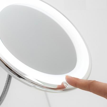 Oglindă cosmetică cu LED cu picior flexibil și ventuză Mizoom2