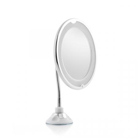 Oglindă cosmetică cu LED cu picior flexibil și ventuză Mizoom5