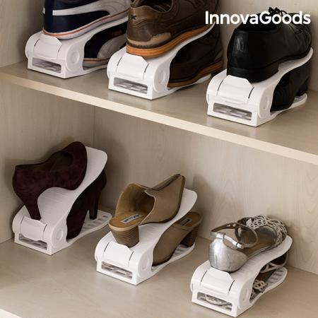 Organizator de pantofi reglabil Shoe Rack InnovaGoods (6 perechi) [3]