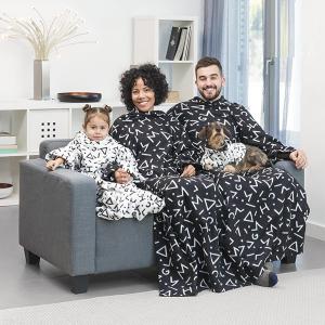 Patura cu maneci Single , negru