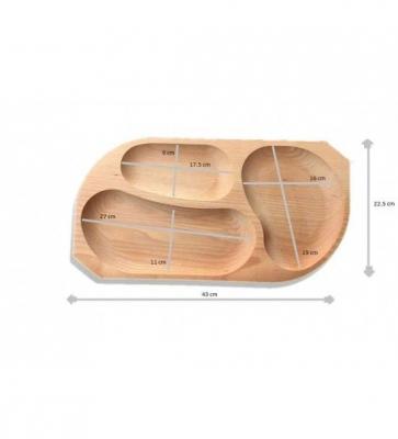 Platou din lemn 3 compartimente1