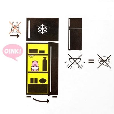Purcelus cu sunet pentru frigider Diet3