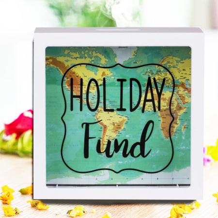 Pusculita Holiday Fund cu harta lumii [0]