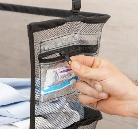 Raft pliant tip organizator portabil pentru bagaj. Sleekbag3