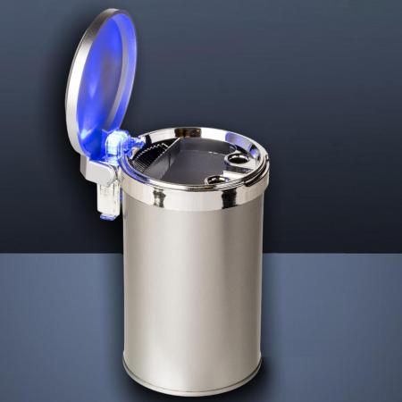 Scrumiera metalica auto LED cu capac [0]