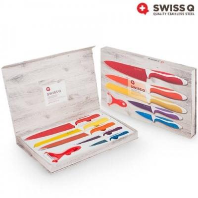 Set de 6 cutite ceramice SWISS Q6