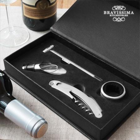 Set de accesorii pentru vin Bravissima 4piese1