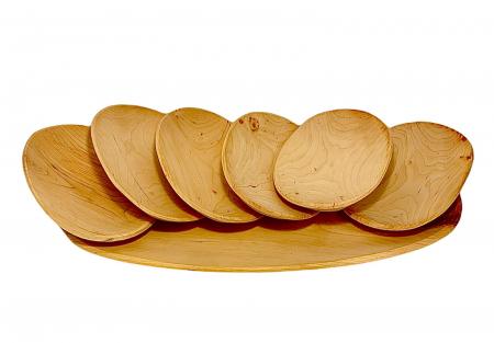 Set platou lemn 6+1 [0]