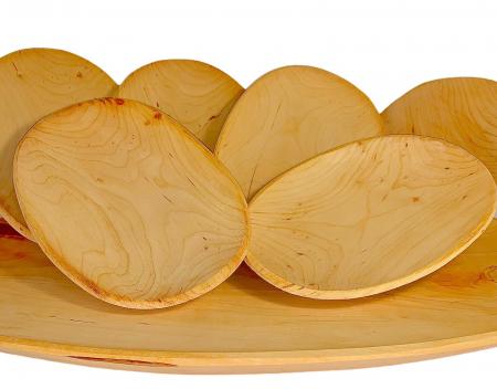 Set platou lemn 6+1 [3]