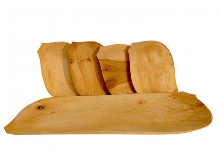 Set platou din lemn 5 piese0