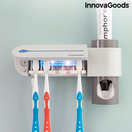 Sterilizator UV pentru periuță de dinți cu suport și distribuitor de pastă de dinți Smiluv0