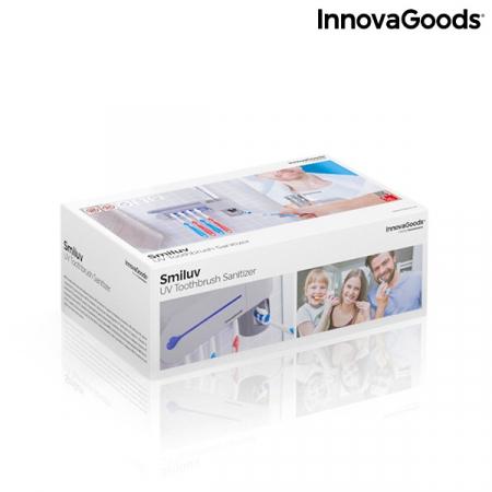 Sterilizator UV pentru periuță de dinți cu suport și distribuitor de pastă de dinți Smiluv6