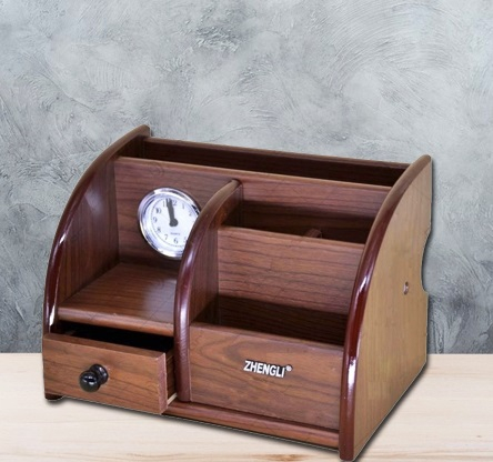 Suport de birou cu sertar si ceas