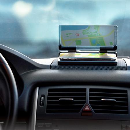Suport auto pentru telefon cu oglinda0