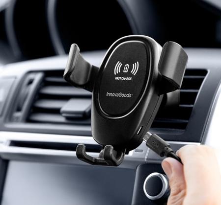 Suport de telefon mobil cu încărcător fără fir pentru mașini Wolder3
