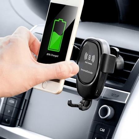 Suport de telefon mobil cu încărcător fără fir pentru mașini Wolder0