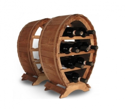 Suport mediu din lemn pentru sticle vin