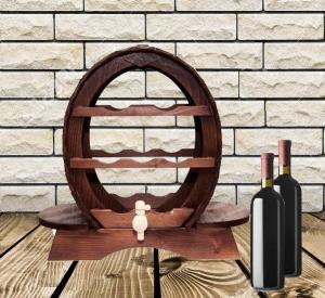 Suport vinuri din lemn pentru 7 sticle0