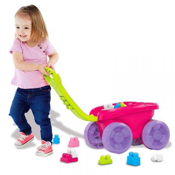 Remorca care aduna piesele Mega Bloks - pentru fetite 4