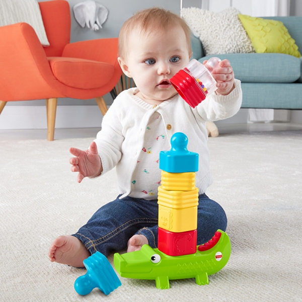 Crocodil cu turn Fisher-Price 1