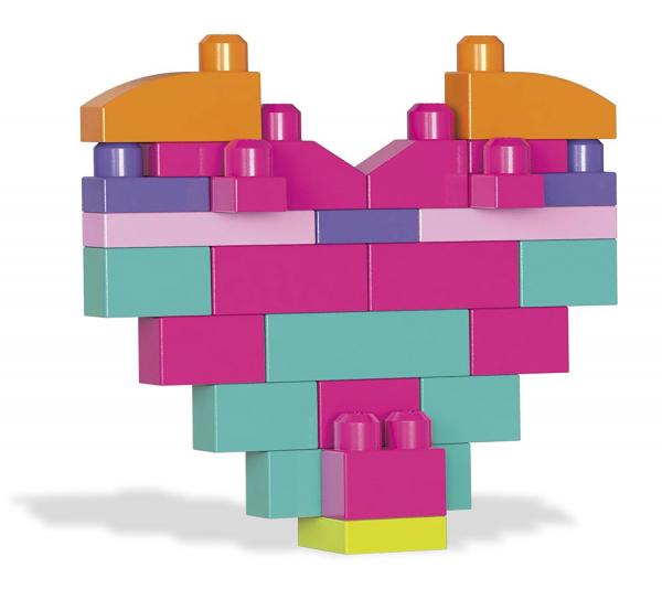 Set cuburi de construit Mega Bloks - 80 de bucati pentru fetite Fisher-Price 2