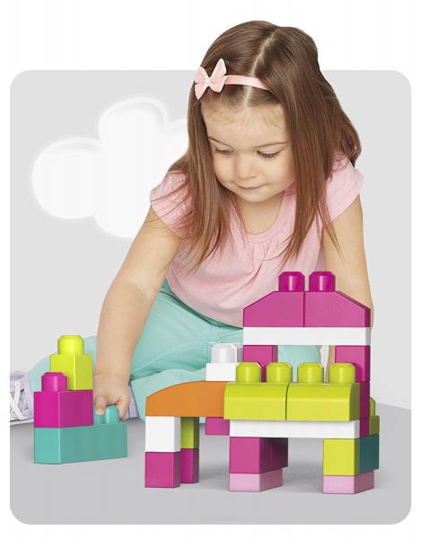 Set cuburi de construit Mega Bloks - 80 de bucati pentru fetite Fisher-Price 3