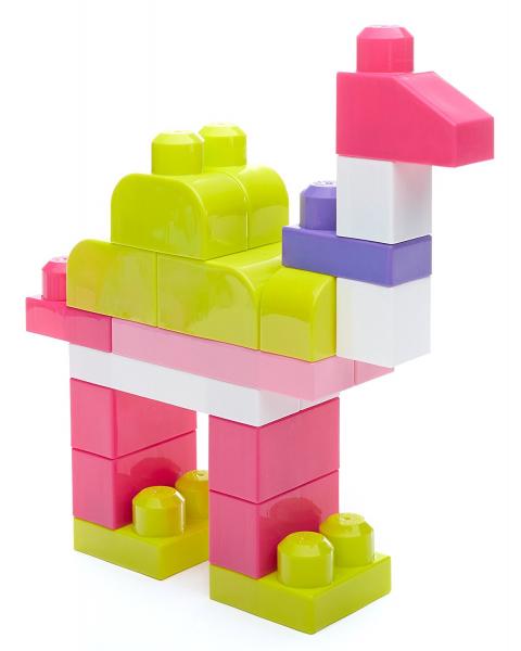 Set cuburi de construit Mega Bloks - 80 de bucati pentru fetite Fisher-Price 4