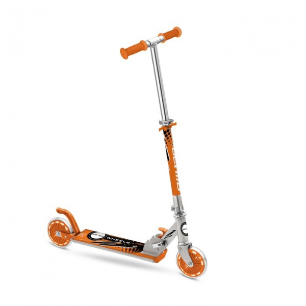Trotineta pliabila cu 2 roti Mondo Toys portocalie 0