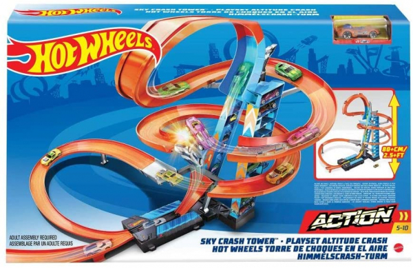 Set de Joaca Hot Wheels - Sky Crash Tower Car 5