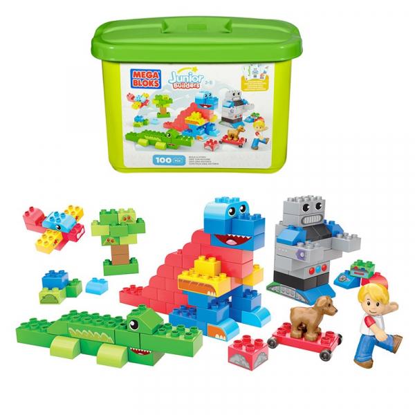 Set Cuburi Mega Bloks Construieste o poveste, 100 piese 0