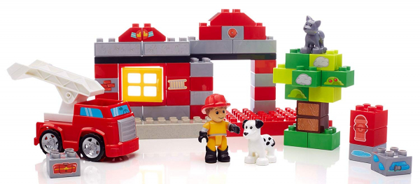 Set de constructie Mega Bloks Pompierie, 55 cuburi 3