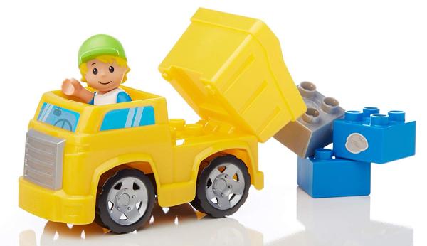 Set de constructie Mega Bloks santier cu camion, 54 cuburi 4