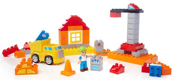 Set de constructie Mega Bloks santier cu camion, 54 cuburi [1]