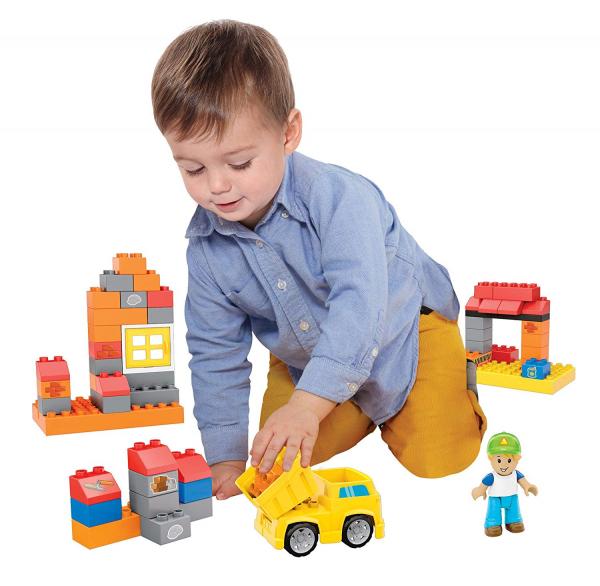Set de constructie Mega Bloks santier cu camion, 54 cuburi [5]