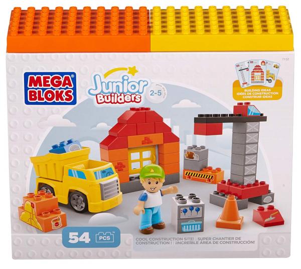 Set de constructie Mega Bloks santier cu camion, 54 cuburi [0]