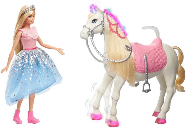 Papusa Barbie Princess Adventure si calul ei magic 1