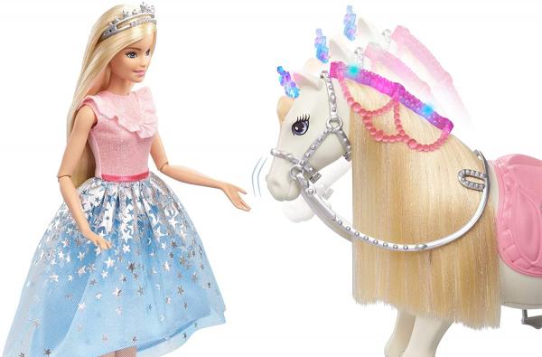Papusa Barbie Princess Adventure si calul ei magic 6