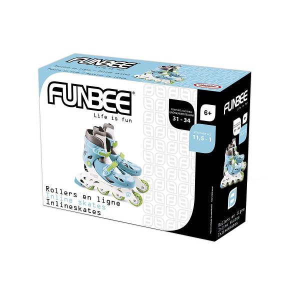 Role copii Funbee, reglabile 31-34, albastre 1