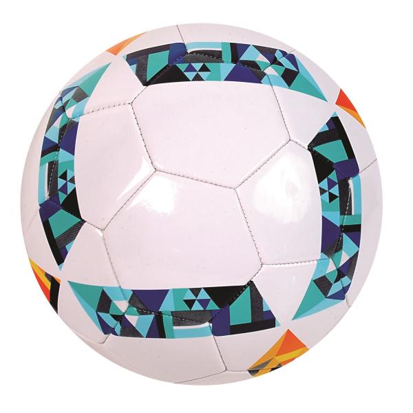 Minge de fotbal AS Toys din piele cu model Tribal marimea 5 0