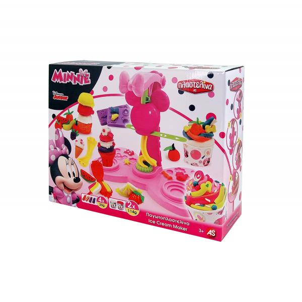 Set Masina de inghetata cu plastilina Art Greco Minnie Mouse 0