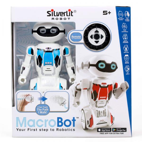 Robot programabil Silverlit Macrobot, telecomanda, albastru 0