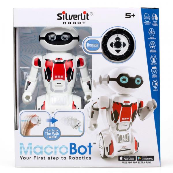 Robot programabil Silverlit Macrobot, telecomanda, rosu 0