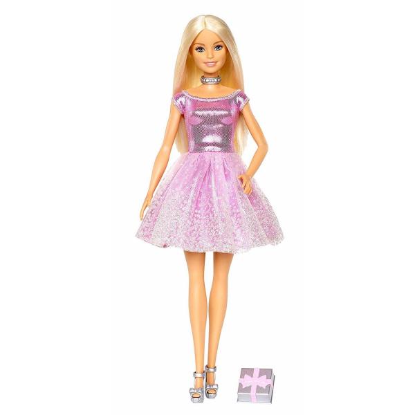 Papusa Mattel Barbie Editie Aniversara Birthday Wishes in rochie roz cu o cutie de cadou [0]