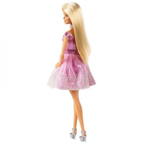 Papusa Mattel Barbie Editie Aniversara Birthday Wishes in rochie roz cu o cutie de cadou [1]